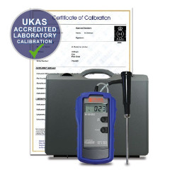 HANNA PT100 Reference Thermometer with PT100 Probe + UKAS Accredited Laboratory Calibration Certificate