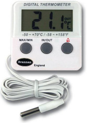 Brannan Digital Max Min Fridge Freezer Thermometer  With Alarm   Thermometer Point