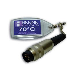 Hanna HI-762-70C/LUM 70C Test Cap with Lumberg Connector Plus Seventy Degrees Centigrade | Thermometer Point