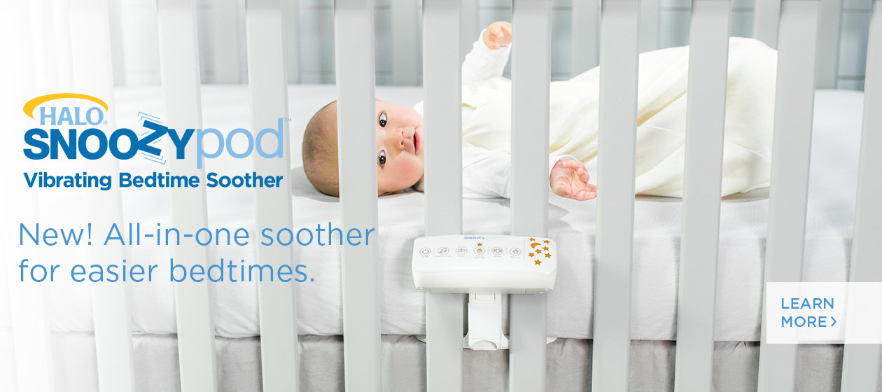 HALO SnooyPod Vibrating Bedtime soother white noise machine