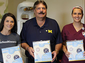 Kiwanis Club of Cadillac donates SleepSacks to Munson Healthcare Cadillac Hospital