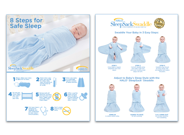 HALO SleepSack 3 way swaddle
