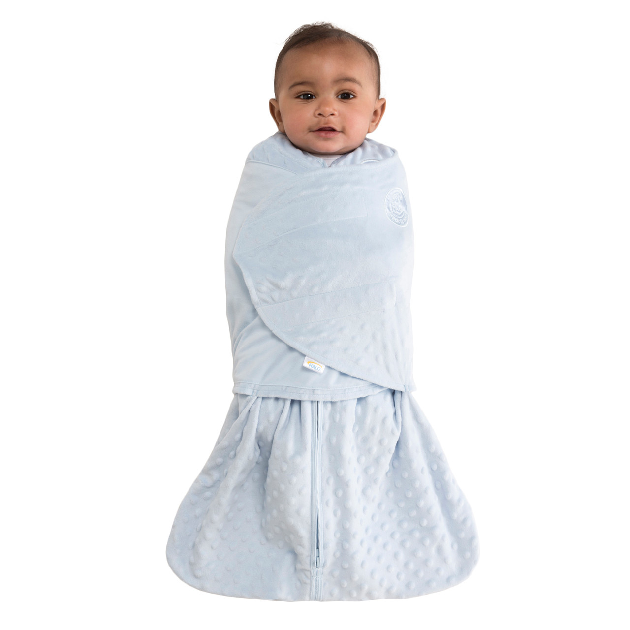 differently b53ec 47e4b HALO® SleepSack® swaddle Plushy Dot Velboa | Blue