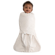 HALO® SleepSack® swaddle Plushy Dot Velboa |  Cream
