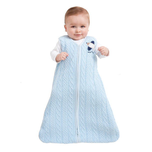 386a853ea5 100% Cotton Cable Sweater Knit SleepSack Wearable Blanket - HALO