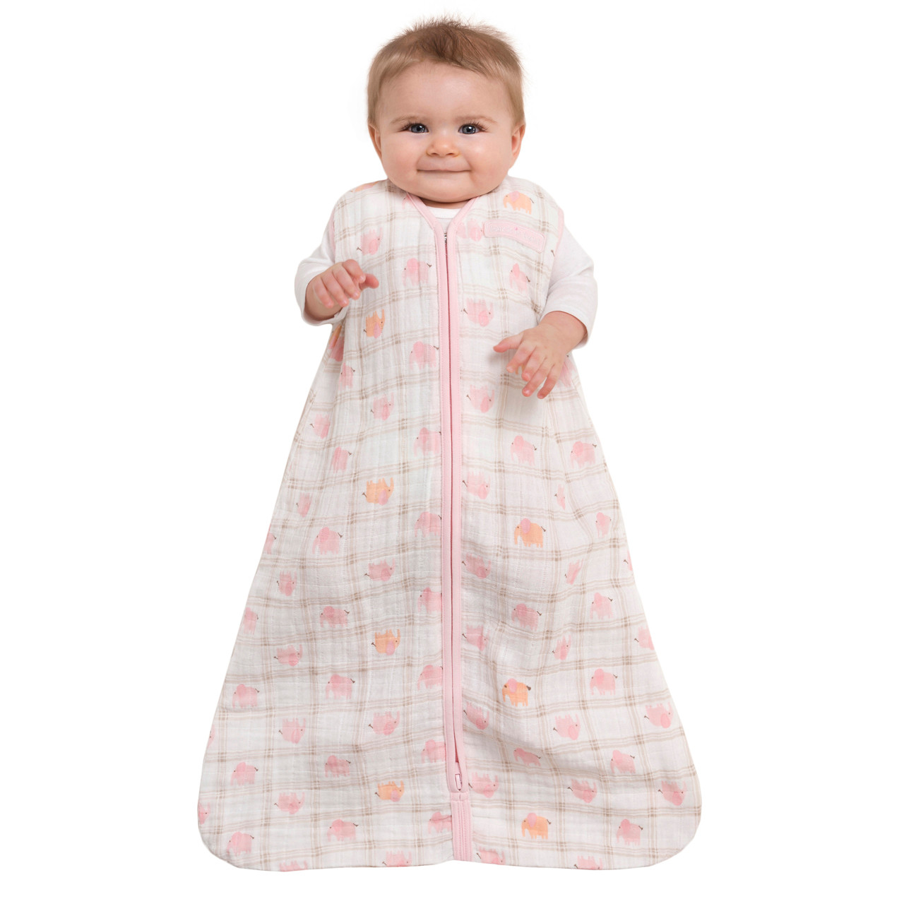 Halo Sleepsack Wearable Blanket 100 Cotton Muslin Elephant Pink