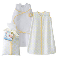 HALO® SleepSack® 2-piece gift set 100% Cotton | Yellow Moon and Stars