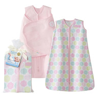 HALO® SleepSack® 2-piece gift set 100% Cotton  |  Pink Flowers