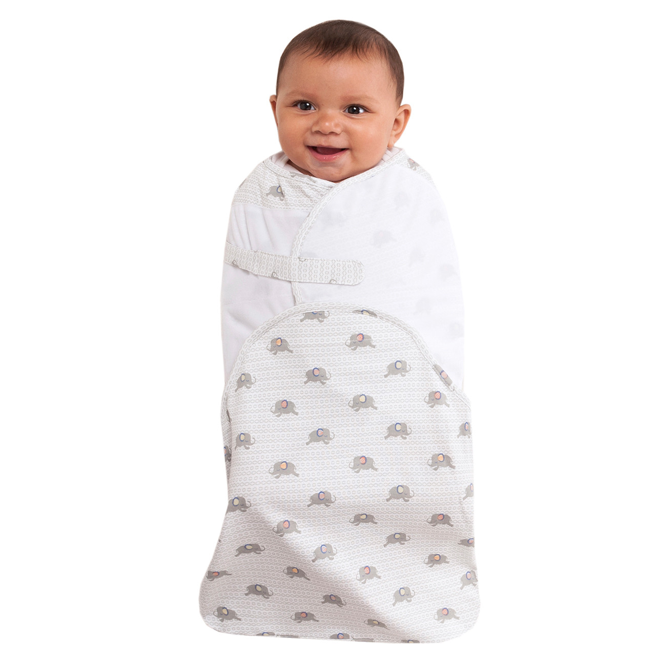 reputable site 1b76e 19632 HALO® SwaddleSure® adjustable swaddling pouch 100% Cotton | Elephant