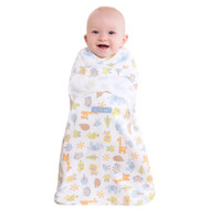 HALO® SwaddleSure® Adjustable Swaddling Pouch  100% Cotton  |  Multi Patchwork Animal