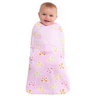 HALO® SwaddleSure® adjustable swaddling pouch  100% Cotton  |  Pink Butterfly Dot