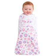 HALO® SwaddleSure® Adjustable Swaddling Pouch  100% Cotton  |  Pink Ladybug