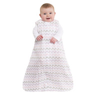 HALO® SleepSack® wearable blanket 100% Cotton Muslin  |  Chevron Pink