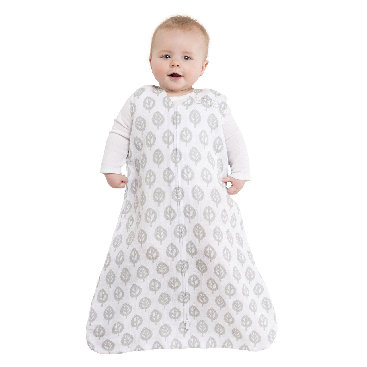 the best attitude f7b01 79df6 HALO® SleepSack® wearable blanket 100% Cotton Muslin | Gray Tree Leaf