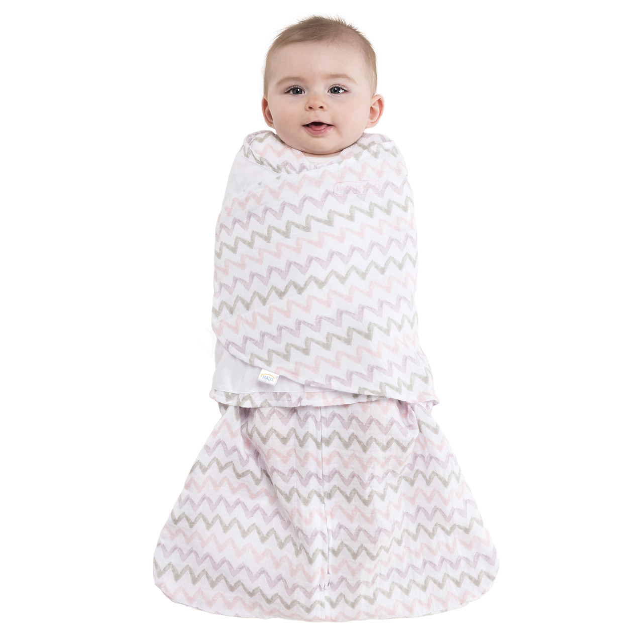 buy popular 414e2 e9910 HALO® SleepSack® swaddle 100% Cotton Muslin | Chevron Pink