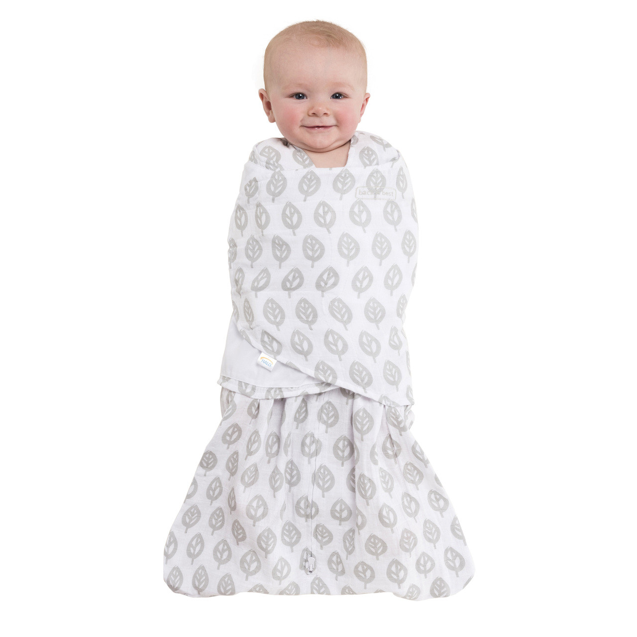 first rate a2696 a4381 HALO® SleepSack® swaddle 100% Cotton Muslin | Gray Tree Leaf
