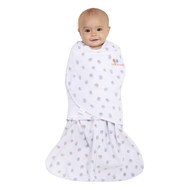 HALO® SleepSack® Swaddle Micro-Fleece  |  Blue/Orange Mixed Dots