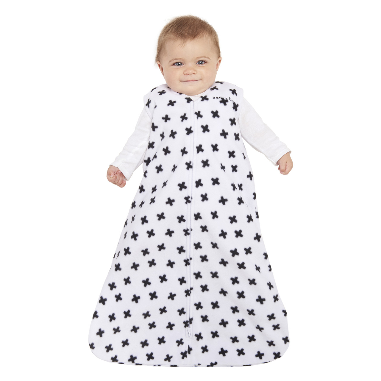 6968253051 HALO® SleepSack® wearable blanketMicro-FleeceBlack and White Plus Signs