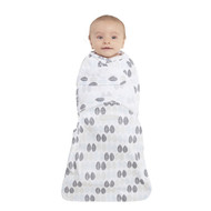 HALO® SwaddleSure® Adjustable Swaddling Pouch  100% Cotton  | Blue Leaves