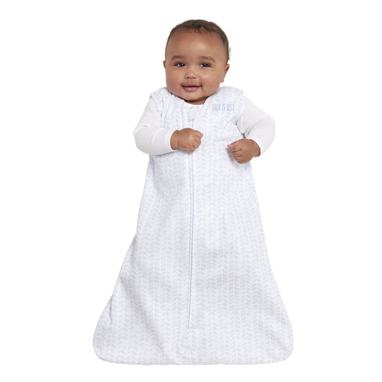 HALO® SleepSack® wearable blanket platinum100% CottonPale Blue Chevron 44420b233