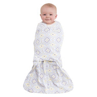 HALO® SleepSack® swaddle 100% Cotton  |  Ikat Damask Blue