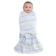 HALO® SleepSack® swaddle 100% Cotton  |  Stripes/Circles Blue