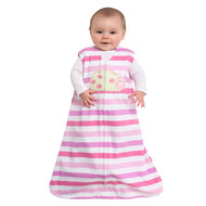 HALO® SleepSack® wearable blanket 100% Cotton  |  Ladybug Pink Stripe