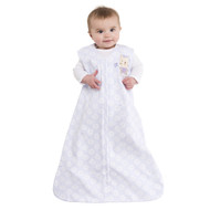 HALO® SleepSack® Wearable Blanket 100% Cotton  |  Lilac Flower with Kitty Applique
