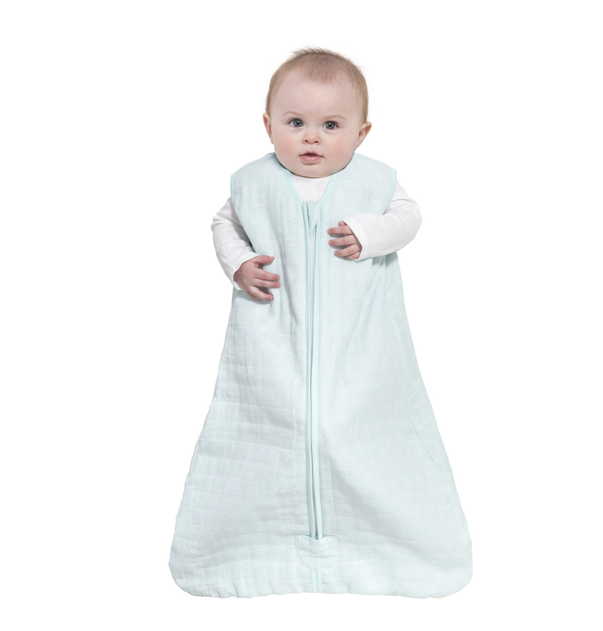 new product f4cc7 5f7ec HALO® SleepSack® wearable blanket platinum quilted muslin | Mint Sketch  Pyramid