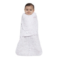 HALO® SleepSack® swaddle platinum quilted muslin  |  Pale Pink Constellation