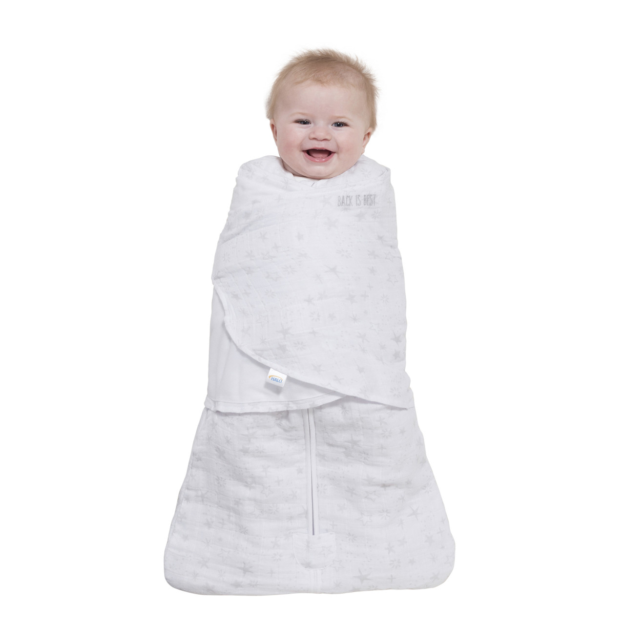 huge discount 11440 858fc HALO® SleepSack® swaddle platinum quilted muslin | Pale Grey Constellation