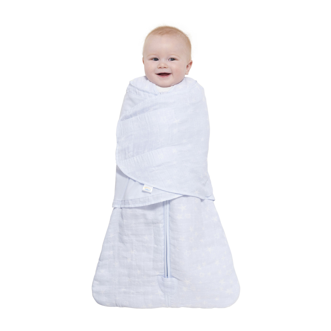 HALO® SleepSack® swaddle platinum quilted muslinPale Blue Constellation e9838a273