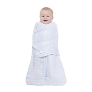 HALO® SleepSack® swaddle platinum quilted muslin  |  Pale Blue  Constellation