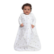 HALO® SleepSack® wearable blanket Micro-Fleece  |  White Sketch Dot