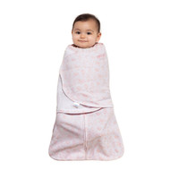 HALO® SleepSack® swaddle Micro-Fleece  |  Pink Diamonds & Leaves