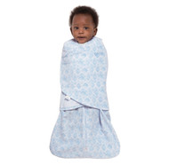 HALO® SleepSack® swaddle Micro-Fleece  |  Blue Diamonds & Leaves