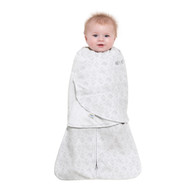 HALO® SleepSack® swaddle Micro-Fleece  |  Grey Diamonds & Leaves