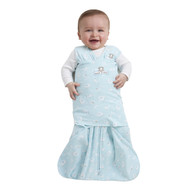HALO® SleepSack® swaddle 100% Cotton  |  Turquoise Animal Friends
