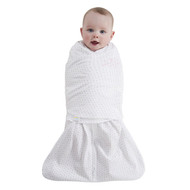 HALO® SleepSack® swaddle 100% Cotton  |  Pink/Grey Dot