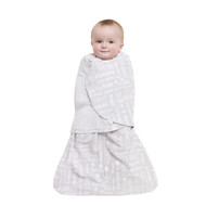 HALO® SleepSack® swaddle Micro-Fleece  |  Gray Baby Words