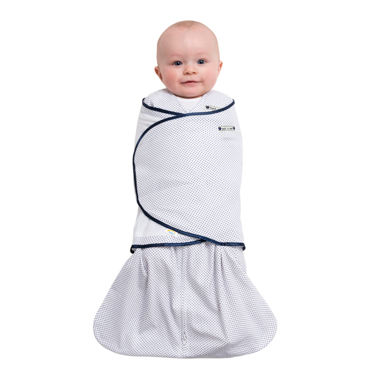 low priced fdb83 1cd68 HALO® SleepSack® swaddle 100% Cotton | Pin Dot Navy