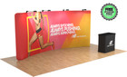 20ft Tru-Fit QuickZip Curved with Hard Case and Custom Podium Graphic!
