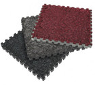 Plush interlocking carpet trade show floors