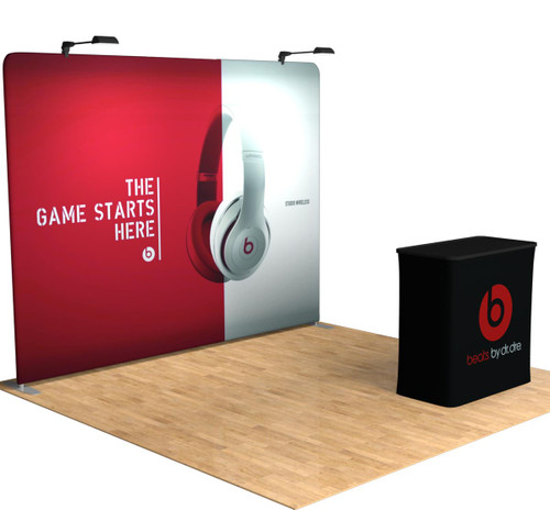 10ft Tru-Fit Straight - Portable Trade Show Display