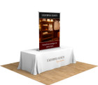 "48"" Silver Step Table Top Retractable Banner Stand. The perfect compliment for your next trade show or event!"