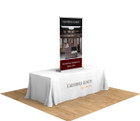 "36"" Silver Step Table Top Retractable Banner Stand. The perfect compliment for your next trade show or event!"