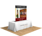 "60"" Silver Step Table Top Retractable Banner Stand. The perfect display for highlighting your brand at your next trade show or event in a BIG way!"
