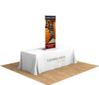 "24"" Silver Step Table Top Retractable Banner Stand. The perfect compliment for your next trade show or event!"
