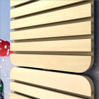 Maple Slat walls - ideal for hanging items for display