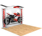 10' Timberline Hybrid Trade Show Display - Shown with Straight Fabric Ends
